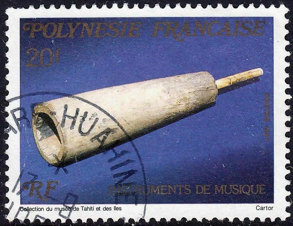 French Polynesia 1987 20f Musical Instruments Used