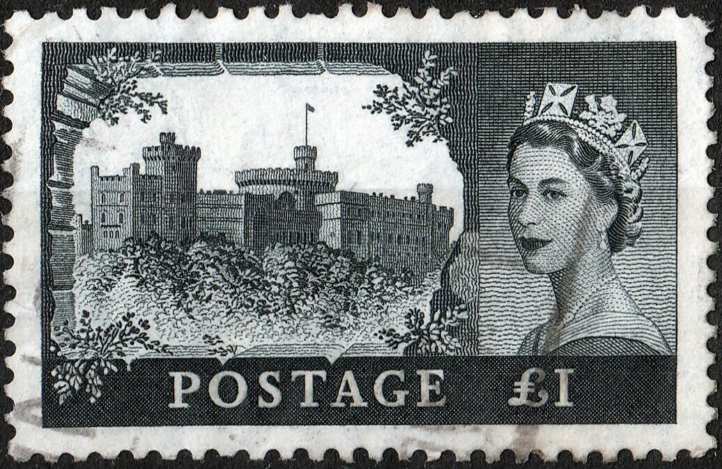 GB 1955 QEII £1 Black VFU See Note