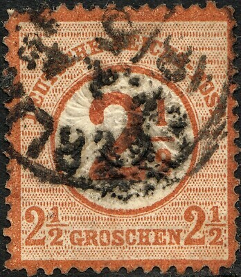Germany 1874 2½ on 2½g Brown Used