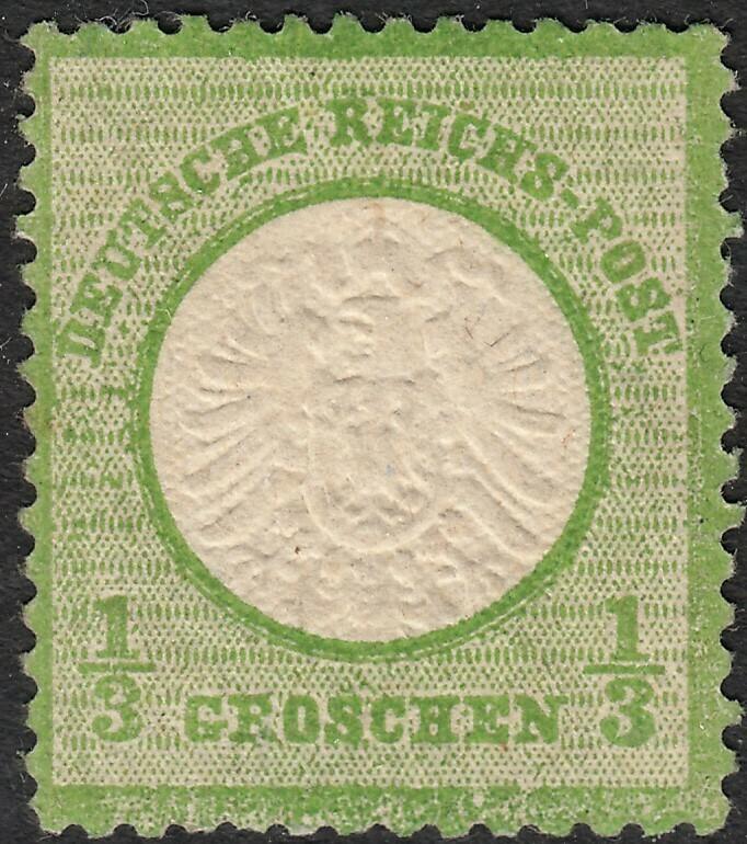Germany 1872 ⅓g Green Shield MH