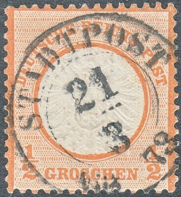 Germany 1872 ¼g Orange FU