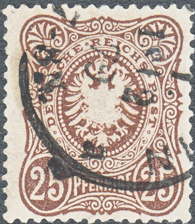 Germany 1875 25pf Brown with Final E in Pfennige FU