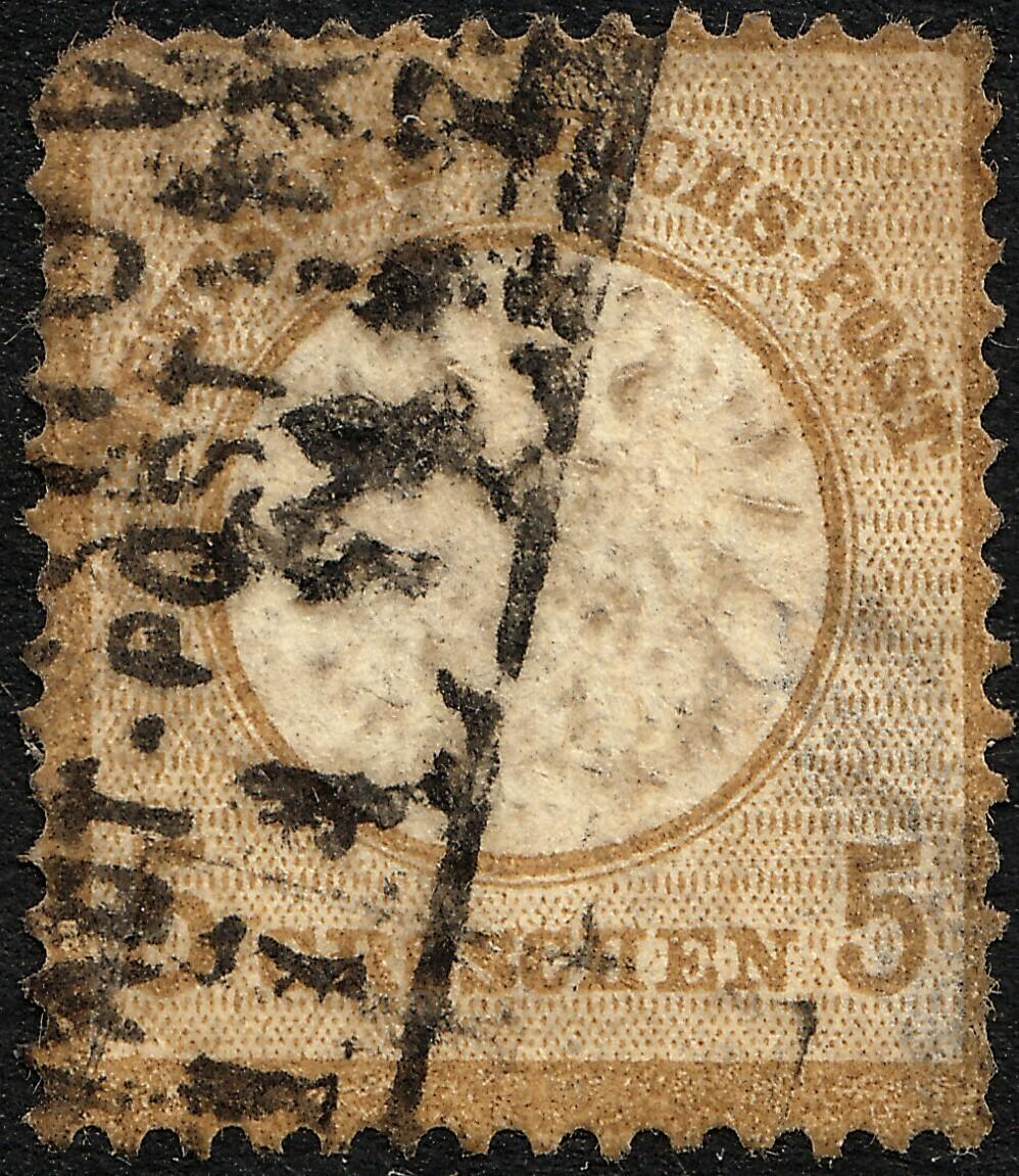 Germany 1872 5g Brown Ochre Used