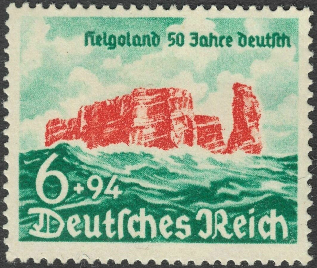 Germany 1940 6pf+94pf 50th Anniversary of Cession of Heligoland to Germany MUH