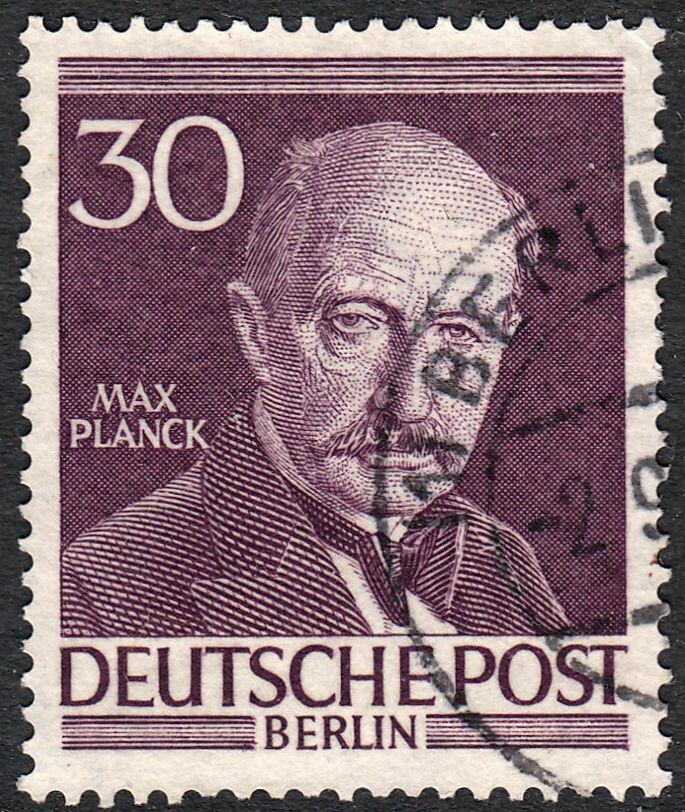 Germany (Berlin) 1952 30pf Max Planck Fine Used