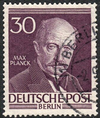 Germany (Berlin) 1952 30pf Max Planck Fine Used