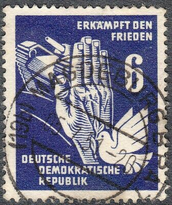 Germany (East) 1950 6pf Peace Propaganda Used