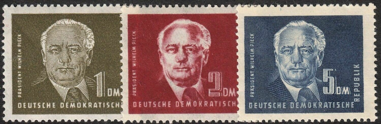 Germany (East) 1950 President Pieck High Values MH