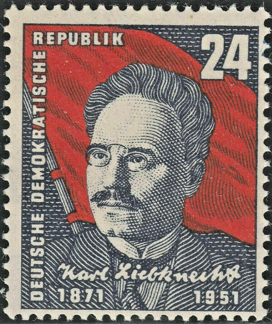 Germany (East) 1951 24pf Liebknecht MUH