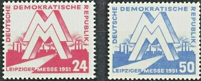Germany (East) 1951 Leipzig Spring Fair Set MUH