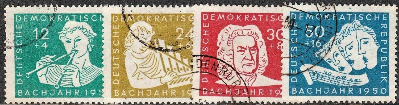 Germany (East) 1950 Bach Year Set VFU