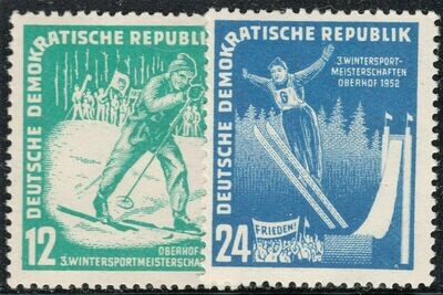Germany (East) 1952 Oberhof Winter Sports Set MLH