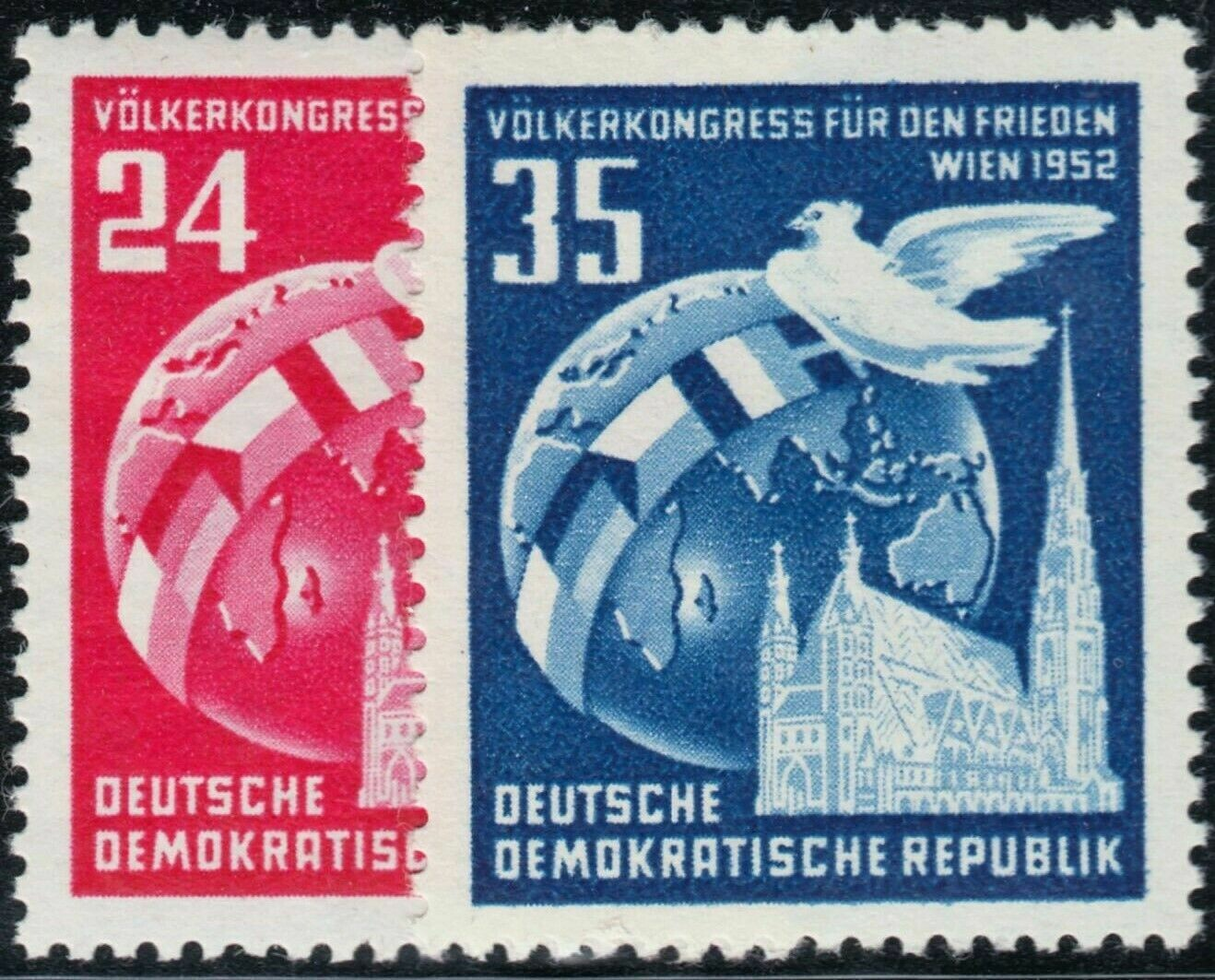 Germany (East) 1952 Vienna Peace Conference Set MUH