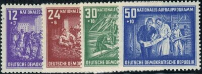 Germany (East) 1952 National Reconstruction Fund Set MUH