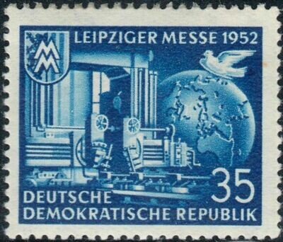 Germany (East) 1952 35pf Blue Leipzig Fair MUH