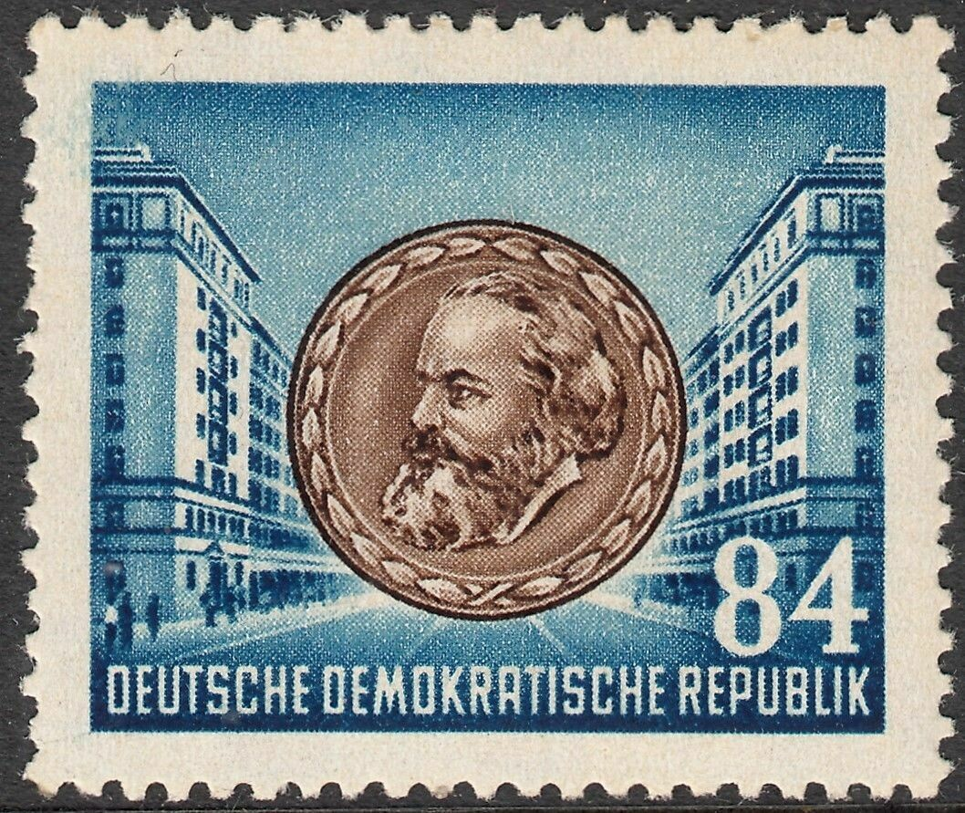 Germany (East) 1953 84pf 70th Anniversary of Death of Karl Marx MUH
