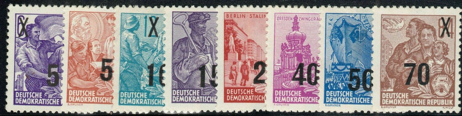 Germany (East) 1954 Surcharges Set MUH