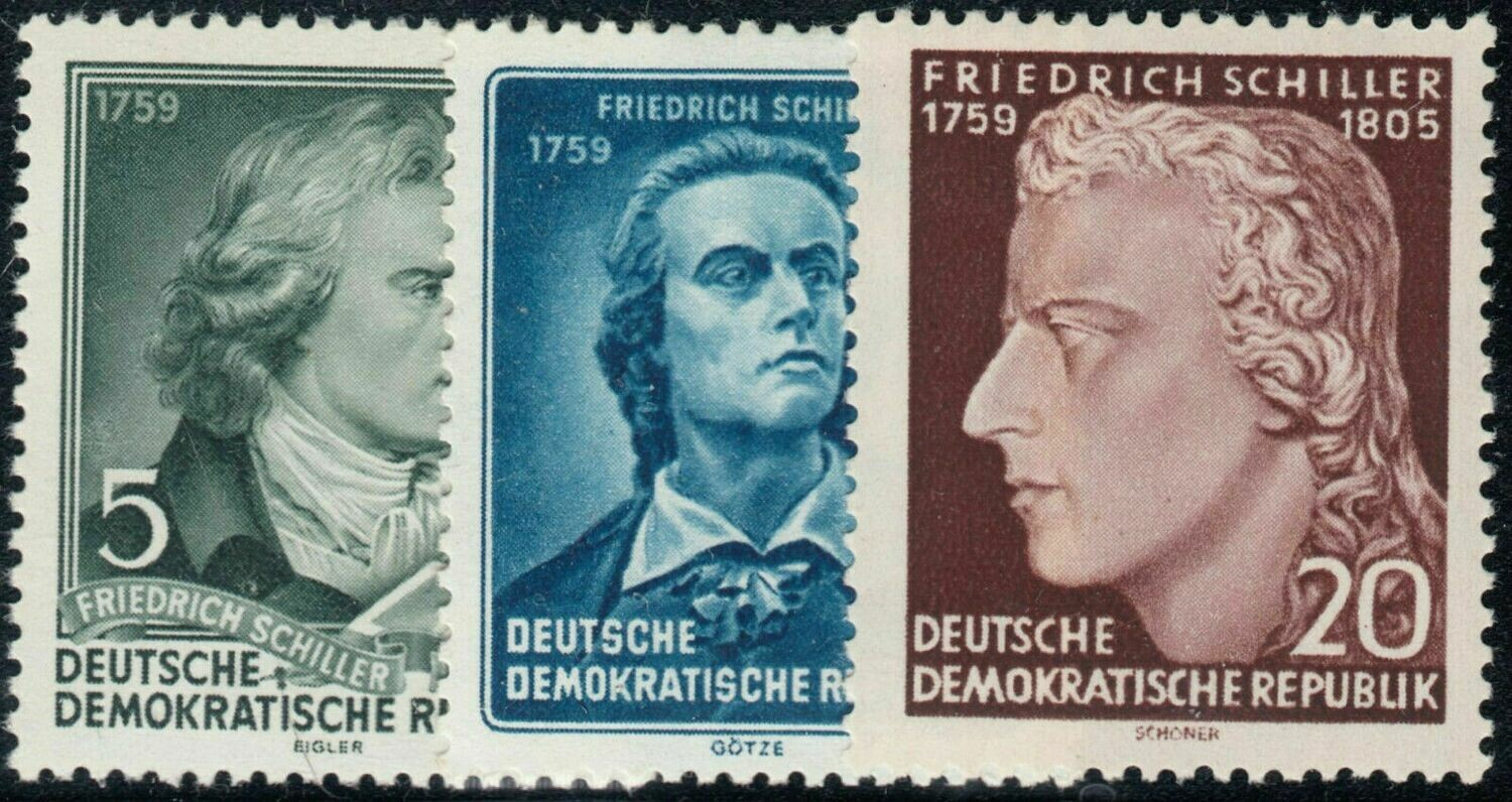 Germany (East) 1955 150th Death Anniversary of Schiller Set MUH