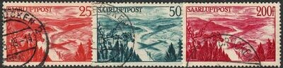Germany (Saar) 1948 Airmails Set of 3 VFU