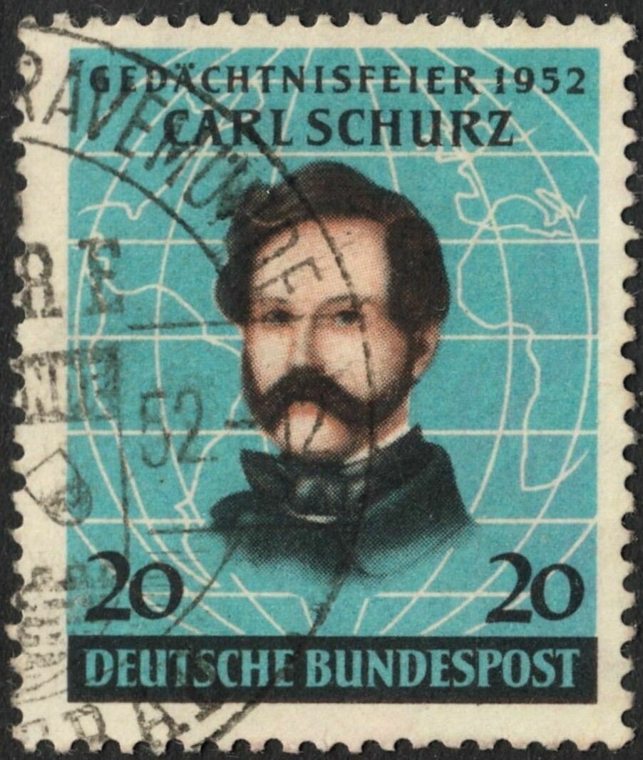 Germany (West) 1952 20pf Centenary of Arrival of Schurz in America Used