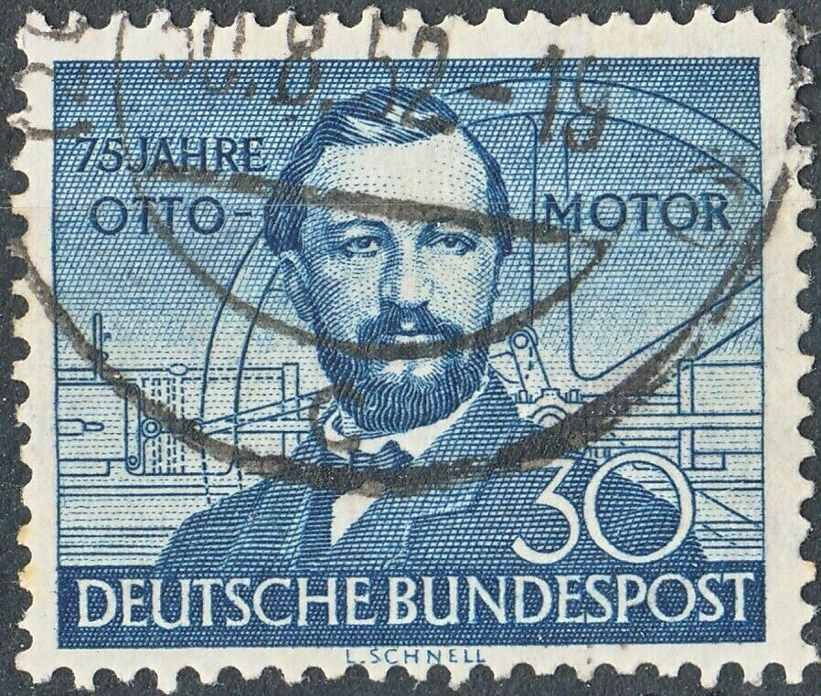 Germany (West) 1952 30pf 75th Anniversary of Otto Engine Used
