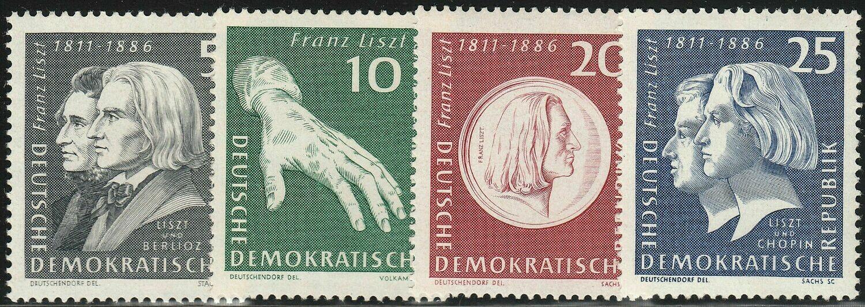 Germany (East) 1961 150th Birth Anniversary of Liszt Set MUH