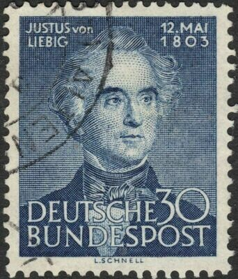 Germany (West) 1953 30pf 150th Birth Anniversary of von Liebig Used