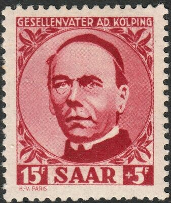 Germany (Saar) 1950 15f+5f Adolf Kolping MH