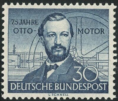 Germany (West) 1952 30pf 75th Anniversary of Otto Gas Engine MH