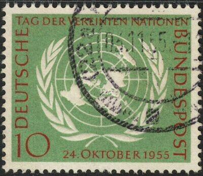 Germany (West) 1955 10pf United Nations Day Used