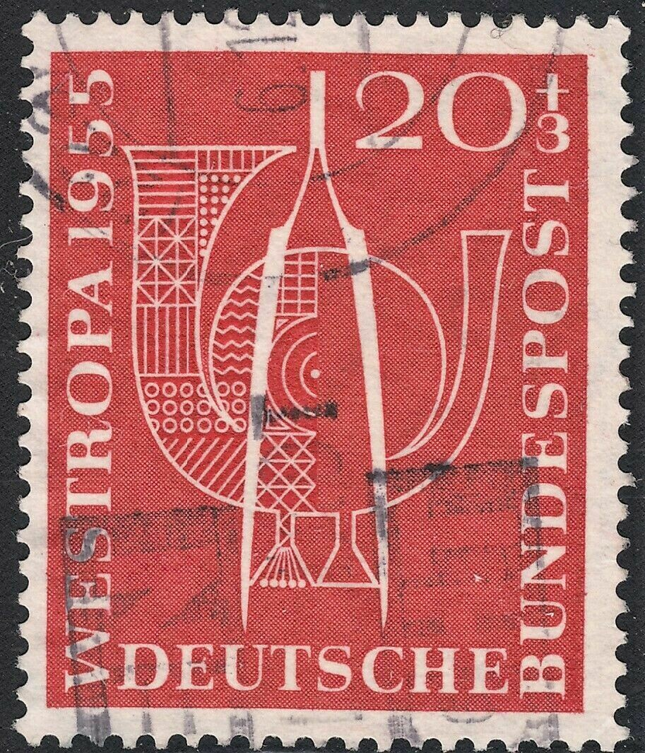 Germany (West) 1955 20pf+3pf Red Westropa Stamp Exhibition FU