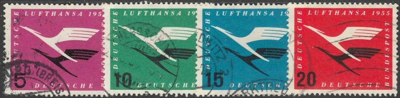 Germany (West) 1955 Re-establishment of Lufthansa Airways Set Used