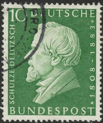 Germany (West) 1958 10pf 150th Birth Anniversary of Schulze-Delitzsch Used