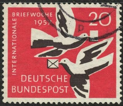 Germany (West) 1957 20pf International Correspondence Week Used