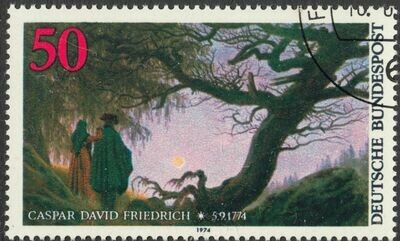 Germany (West) 1974 50pf Birth Bicentenary of Caspar Friedrich CTO Full Gum