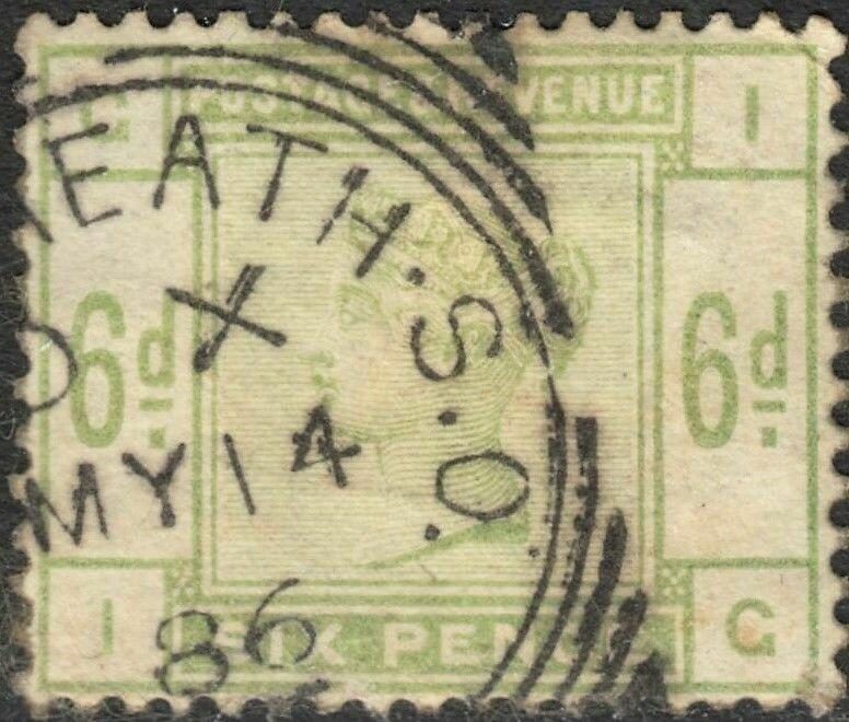 Great Britain 1884 QV 6d Dull Green FU
