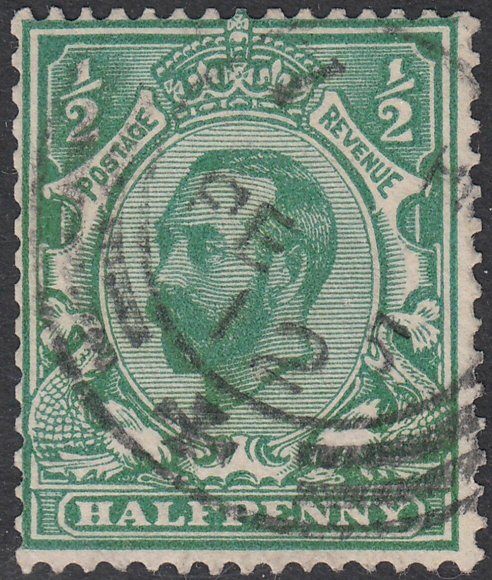 Great Britain 1911 KGV ½d Bluish-Green Used - Scarce Shade