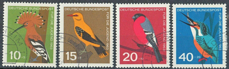 Germany (West) 1963 Child Welfare Birds Set CTO