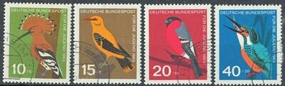 Germany (West) 1963 Child Welfare Birds Set CTO