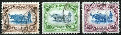 Kedah 1921-32 KGV Oxen Trio FU