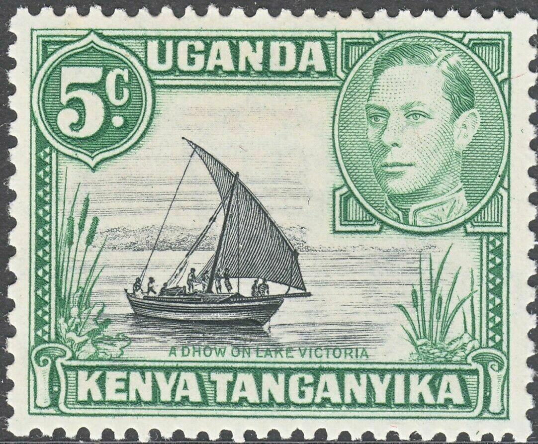 KUT 1938 KGVI 5c Black & Green MH