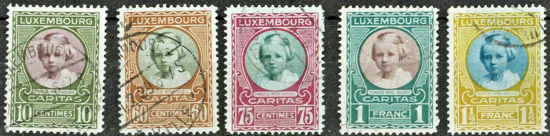 Luxembourg 1928 Child Welfare Set VFU