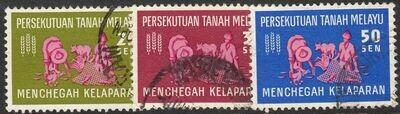 Malayan Federation 1963 QEII Freedom From Hunger Set FU