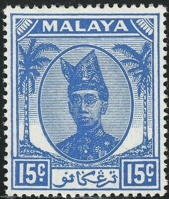 Malaya (Trengganu) 1949 15c Ultramarine MLH