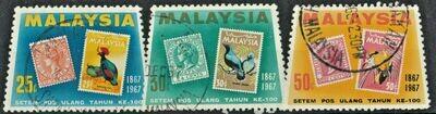 Malaysia 1967 Stamp Centenary Set FU