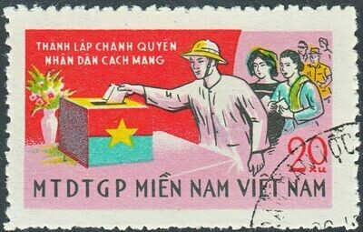 National Front for the Liberation of South Vietnam 1968 20x 8th Anniv of NLF VFU