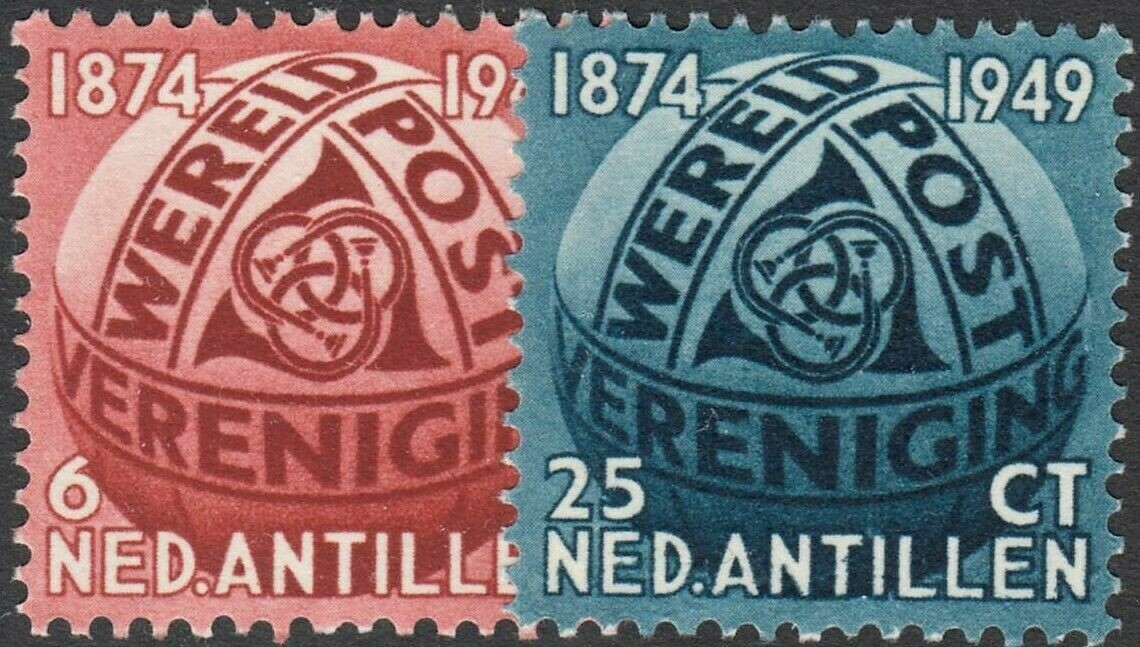 Netherlands Antilles 1949 75th Anniversary of UPU MUH
