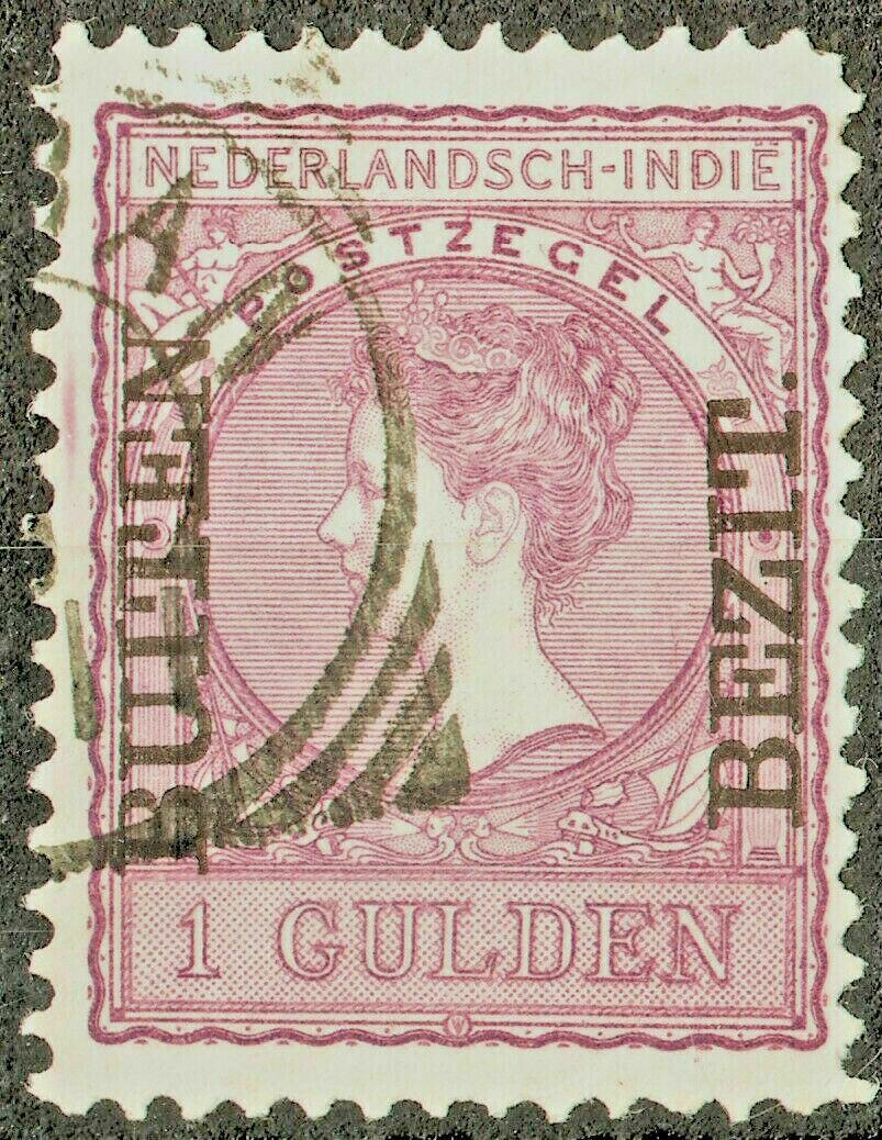 Netherlands Indies 1908 1g Lilac Overprint VFU