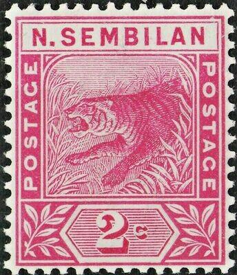 Negri Sembilan 1891 QV 2c Rose MUH