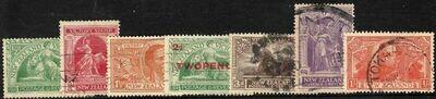New Zealand 1920 KGV Victory Set & 2d Overprint F-VF Used